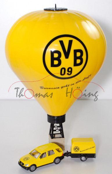00401 MB ML 320 (Mod. 97-01) mit Heißluftballon, gelb/schwarz, BvB 09 / Borussia geht in die Luft