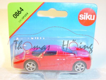 00001 SIKU Spider (vgl. Ferrari Enzo, Modell 2002-2004), rot, P28