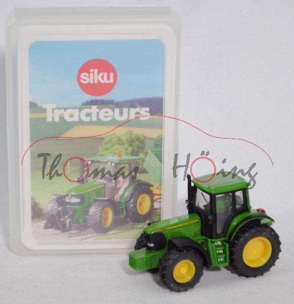 00100 F Tracteurs Quartett mit John Deere 6920 S (Mod. 2001-2006), grün, SIKU SUPER / TOPP ASS, P28b