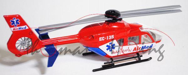 99900 Eurocopter Hubschrauber, verkehrsrot, AirMed / EC-135 / AirMed, 1:55, L15n, EU