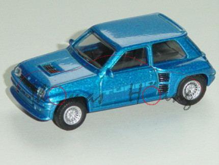 Renault 5 Turbo 1980, Modell 1980-1982, verkehrsblaumetallic, TURBO, 1:54, Norev RETRO, mb