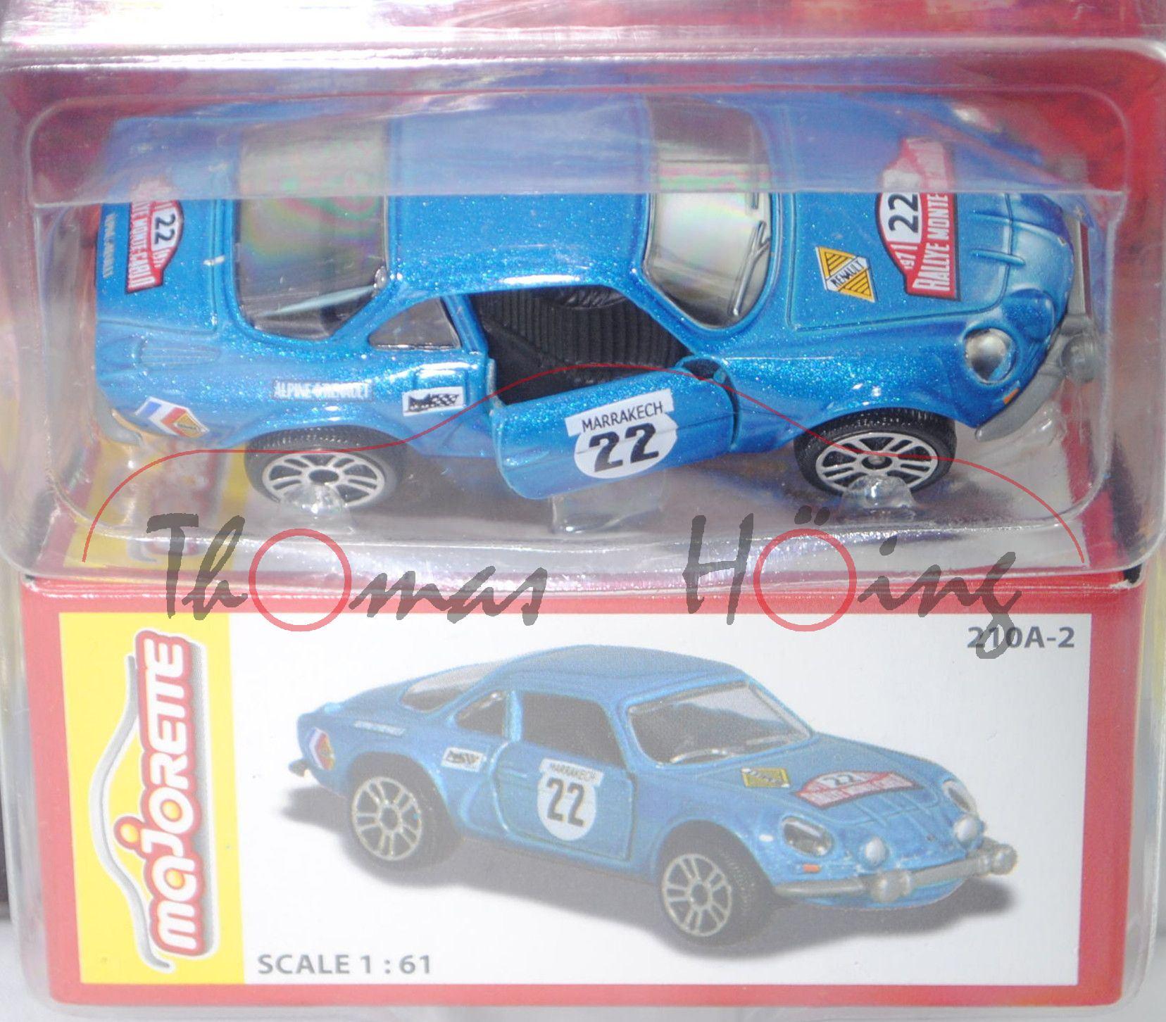 Renault Alpine A110 1600 blau Rallye Monte Carlo 1971 Fahrer