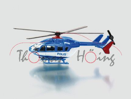 03000 S Helicopter, hell-verkehrsblau/weiß, POLIS, 1:87, P28, S