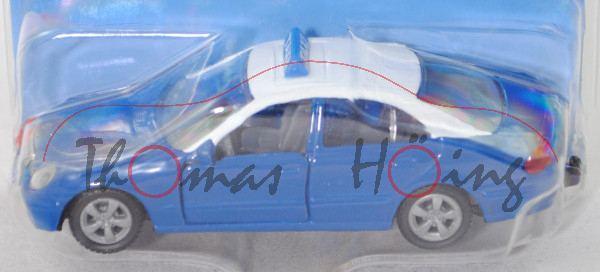 00903 GR Mercedes-Benz E 500 (W 211, Mod. 02-06) Greek Thessaloniki Taxi, blau/weiß, B20 grau, P29e