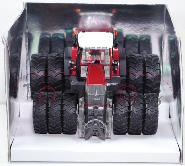 00410 Fendt 926 Vario TMS Traktor (Modell 2002-2006) mit Drillingsbereifung, purpurrotmetallic/dunke