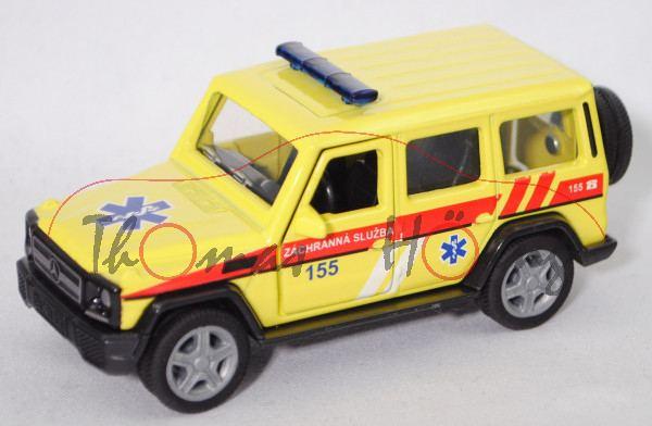 06101 CZ Mercedes-Benz G 65 AMG (Mod. 12-15) Emergency Car, gelb, ZÁCHRANNÁ SLUZBA 155, L17mpK