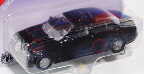 00402 Jaguar S 4.0 V8 (Typ CCX / X200, Mod. 1999-2002), schwarz, B6, P26 (Sondermodell Siku Museum)