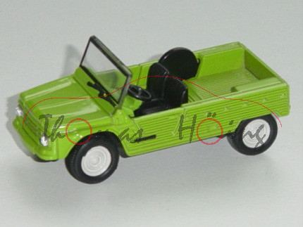 Citroen Méhari, Modell 1968-1987, hell-gelbgrün, 1:54, Norev RETRO, mb
