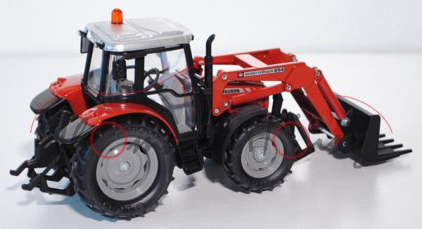 Massey Ferguson MF 894 Traktor mit Frontladergabel ohne Wechselladersystem, rot, L17P