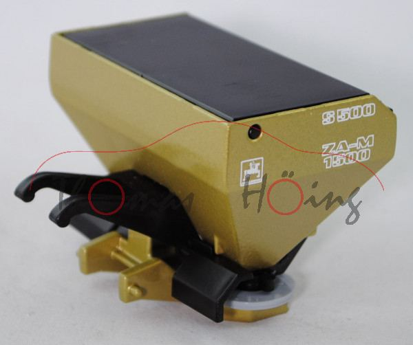 00407 Düngerstreuer, silberdistel, Deckel schwarz, Streuteller silbergrau, Druck AMAZONE in reinweiß