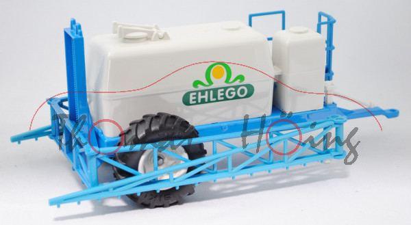 00402 Hänger-Feldspritze (Anhängefeldspritze bzw. Pflanzenschutzspritze), reinweiß/himmelblau, EHLEG