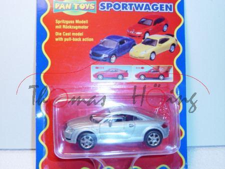 Audi TT Coupe, Mj. 98, silber, PAN TOYS, 1:43, Blister