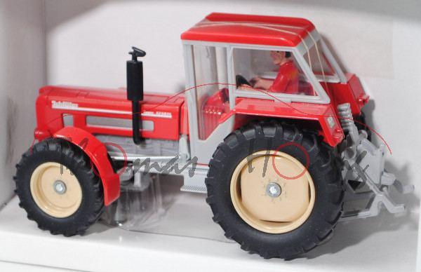 00000 Schlüter Super 1250 VL, Modell 1972-1985, karminrot, mit Fahrer, SCHLÜTER steht vorne, L17P