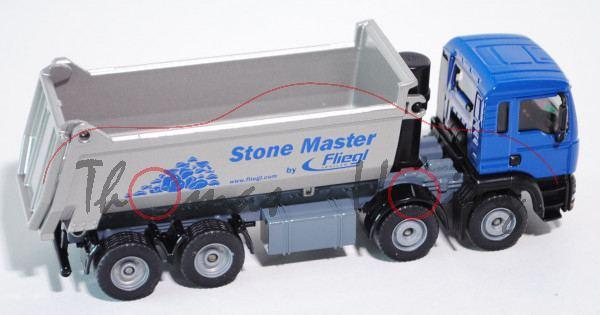 00003 MAN TGA 18.460 M Halfepipe-Muldenkipper, Modell 2000-2007, ultramarinblau/silber, Stone Master