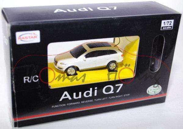 Audi Q7, Mj. 2005, perlmuttweißmetallic, mit Fernsteuerung, RASTAR, 1:72, mb