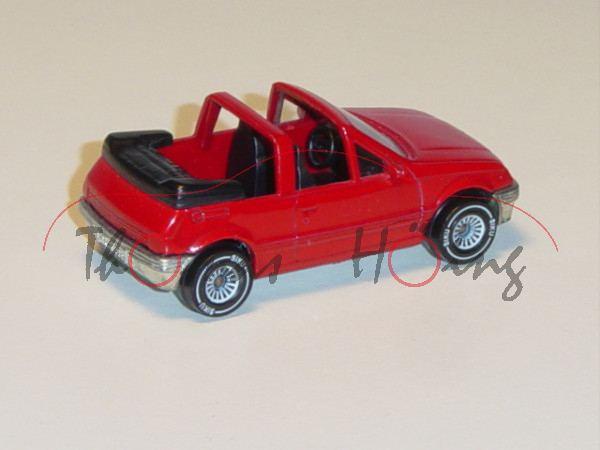 Peugeot 205 Cti 1.6 Cabriolet, Modell 1986-1989, karminrot (!!!), innen schwarz, Lenkrad schwarz, B4