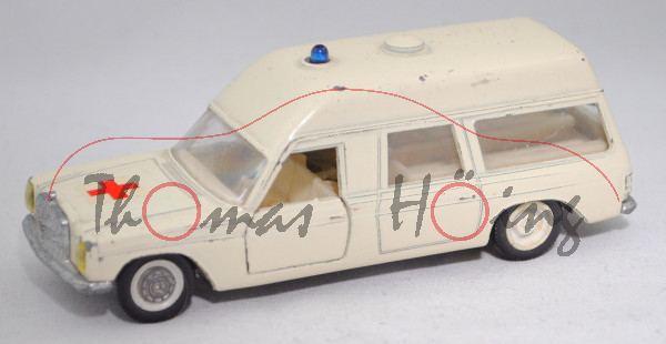 MB 230/8 (VF 114, Mod. 68-73) Binz-Europ 1200 L Krankenwagen, weiß, 1 Radkappe + Krankentrage weg