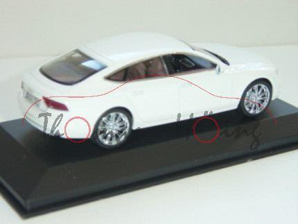 Audi A7 Sportback, Mj. 11, ibisweiß, Kyosho, 1:43, Werbeschachtel