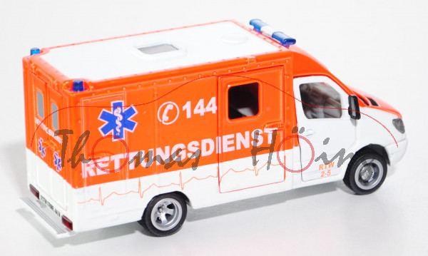 03900 Mercedes Sprinter Rettungswagen, weiß/rot, C 144, L17mK, CH