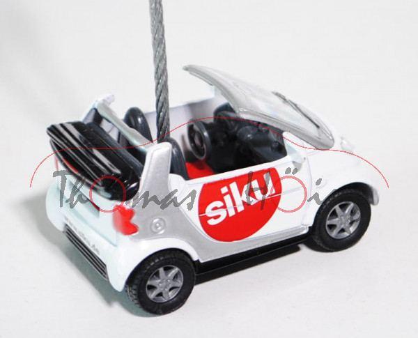 smart fortwo cabrio passion (Typ A 450, Mod. 2000-2003), reinweiß/weißalu, siku, Zettelhalter