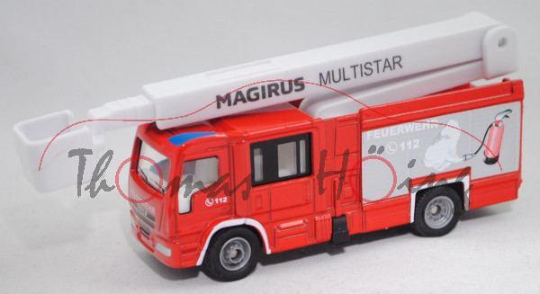 00000 Magirus MultiStar Fire TLF mit Teleskopmast (MultiStar 2, Mod. 2010-), rot, SIKU, 1:87, L17mpK