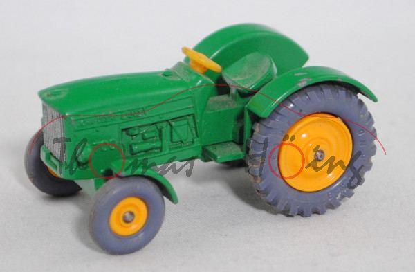 John Deere-Lanz 700 Traktor (Modell 1962-1964), hell-minzgrün, hell-blaugraue Reifen, Matchbox