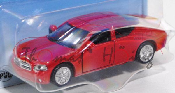 Dodge Charger SXT 3.5L V6 (6. Generation, Typ LX), Modell 2005-2010, karminrot, innen schwarz, Lenkr