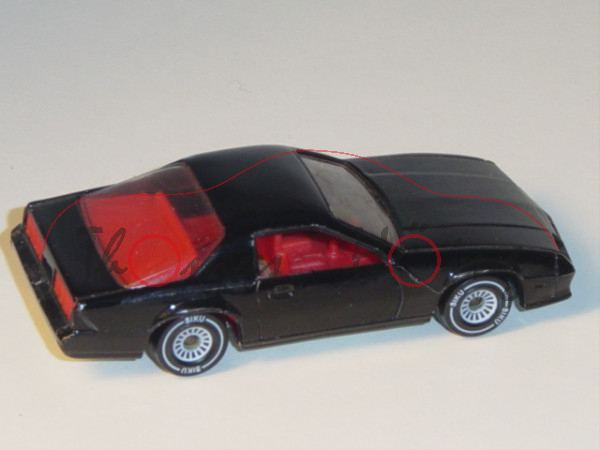 00002 Chevrolet Camaro Z28 (3. Generation), Modell 1982-1985, schwarz, innen rot, Lenkrad schwarz, B