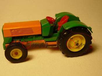Zugschlepper Hanomag Robust 900, Modell 1967-1969, minzgrün/melonengelb, Räder gelb, P14h