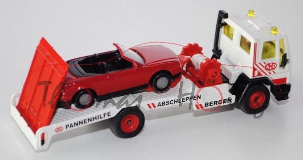 Ford Cargo Abschleppwagen, reinweiß/verkehrsrot, AvD / BERGEN ABSCHLEPPEN PANNENHILFE AvD, Ladegut:
