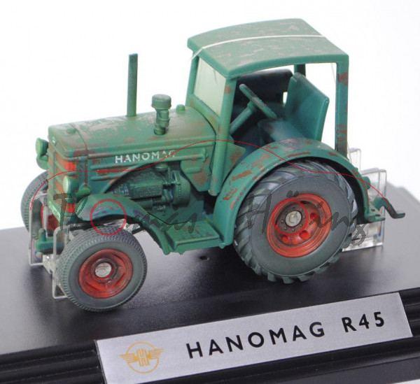 00000 Hanomag R 45 (Mod. 50-57), moosgrün, gealterte Ausführung, SIKU CLASSIC+, 1:32, L17PC (m-)