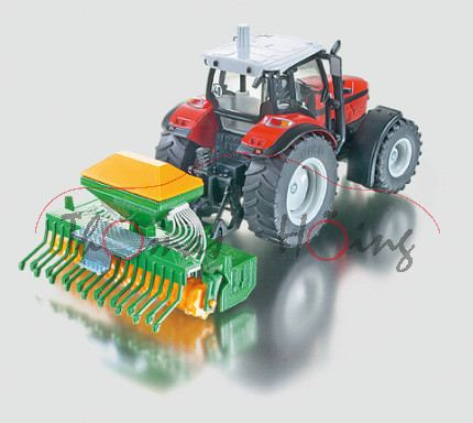 Saatdrillmaschine, grün, Deckel und Walzen melonengelb, L15