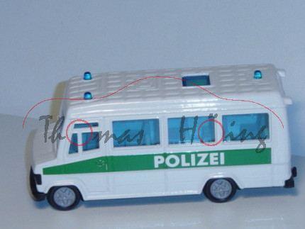 00000 Mercedes-Benz 809 D (Typ T 2 neu, Baumuster: 670) Polizei-Mannschaftswagen, Modell 1986-1996,