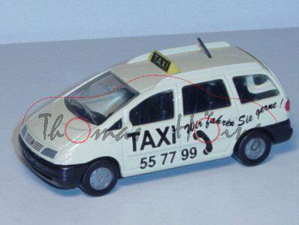 00000 VW Sharan I 2.8 VR6 (Typ 7M, Modell 1995-2000) Großraumtaxi, hellelfenbein, innen schwarz, Len