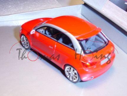Audi A1 project quattro 2008, verkehrsrot, Looksmart Models, 1:43, Werbeschachtel (limitierte Auflag