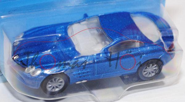 00002 Mercedes-Benz SLR McLaren (Baureihe C199), Modell 2004-2009, verkehrsblaumetallic, innen reinw