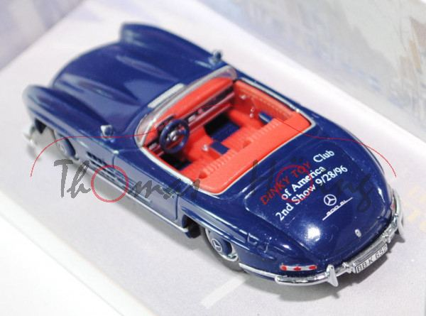 Mercedes-Benz 300 SL Roadster, Typ W 198, Baujahr 1962, Modell 1957-1963, saphirblau, DINKY TOY Club