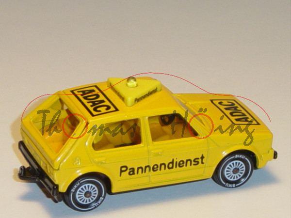 VW Golf I (Typ 17, Modell 1978-1980) ADAC-Pannendienst, kadmiumgelb, innen dahliengelb, Lenkrad schw