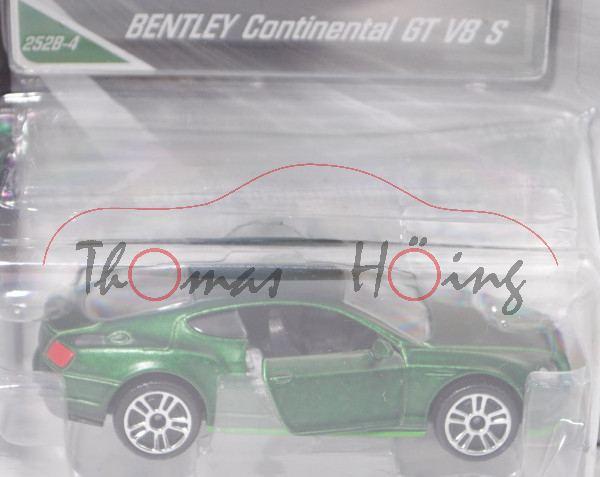 Bentley Continental GT II V8 S 4.0 (Facelift 2015, Mod. 15-18), laubgrünmet., majorette, 1:64, mb
