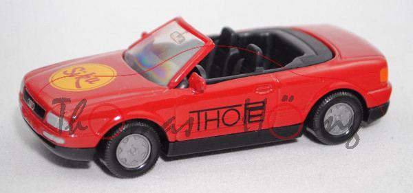 Audi Cabriolet 2.3E (B4, Typ 8G, Modell 1991-1994), verkehrsrot, THOPE, Werbeschachtel