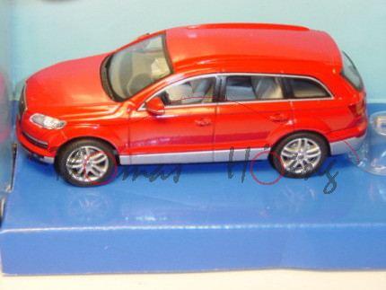 Audi Q7 mit Caravan, Mj 05, karminrot/silber, Polar, Cararama, 1:43, mb