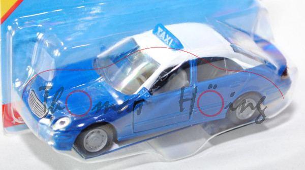 30000 Mercedes-Benz E 500 (Baureihe W 211, 1. Version, Modell 2003-2006) Taxi, enzianblau, Dach rein