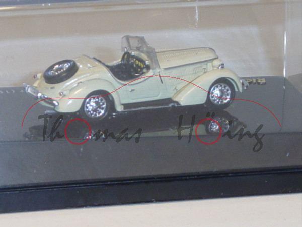 Wanderer W25K Roadster 1936, elfenbein, Ricko / Busch, 1:87, PC-Box