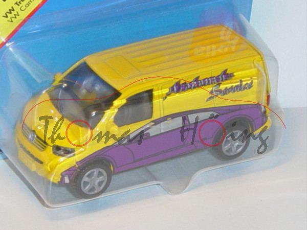 00000 VW T5 Transporter (Modell 2003-2009), verkehrsgelb/dunkel-signalviolett, innen verkehrsgrau, L