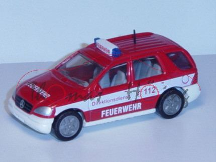 00000 Mercedes ML 320 Feuerwehr-Kommandowagen, karminrot/weiß, Direktionsdienst C 112 / FEUERWEHR