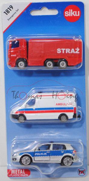 06000 PL Emergency Set, mit: Scania R380+MB Sprinter II+VW Golf VI, STRAZ / AMBULANS / POLICJA, P29e