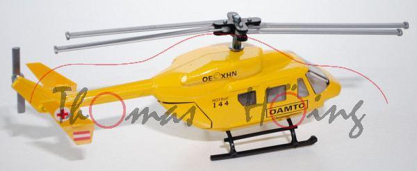 03800 Hubschrauber BK 117, kadmiumgelb, ÖAMTC Christophorus / OE -XHN / NOTRUF / 144, Werbeschachtel