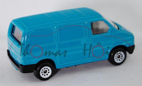 00000 VW T4 Transporter Kastenwagen (Modell 1990-1995), türkisblau, innen lichtgrau, Lenkrad integri
