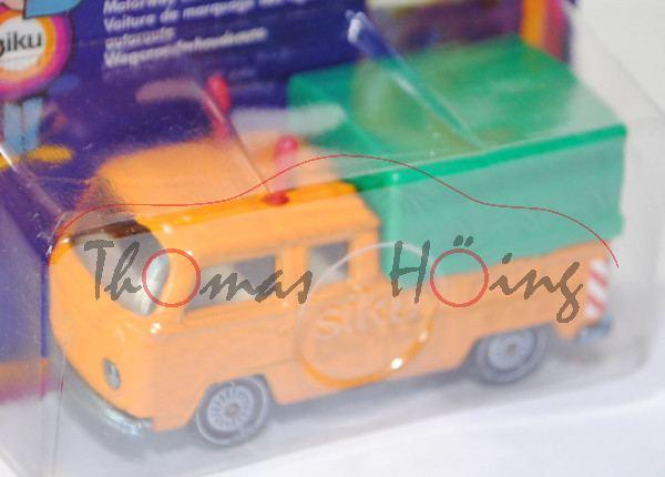 00001 VW DoKa Doppelkabine Pritschenwagen (Typ T2a, Modell 1967-1971) Autobahn-Streckenwagen, melone