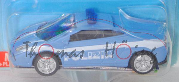 00000 Lamborghini Gallardo LP 560-4 Coupé (2. Gen., Mod. 08-12) Polizei Italien, blau, POLIZIA, P29d